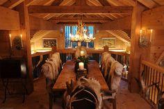 Интерьер старинного шале в Швейцарии Дизайн красивых интерьеров и вещей