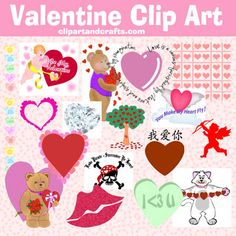 Fun free for personal use valentine graphics have many different styles and types including borders, frames, dividers, backgrounds, vintage card pictures and of course romantic clip art images for all ages. Heart Crafts, Dividers, Vintage Cards, Art Images, Different Styles, Frames, Fonts, Backgrounds, Clip Art