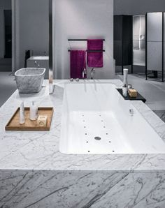 Makro Systems for ADI Design Index #bathroom #marble