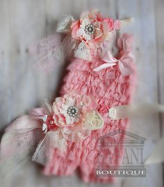 birthday girl outfit, lace romper pieces pink and ivory lace romper set. Lace Petti Romper , headband and belt, Baby Girl Photo Prop Petti Romper, Lace Romper, Baby Girl Party Dresses, Flower Girl Dresses, God Made Girls, Baby Girl Photos, Girls Rompers, Childrens Party, Cute Baby Clothes