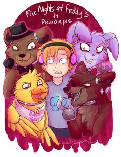 pewds plays five nights at freddy's!! my fave game!!!