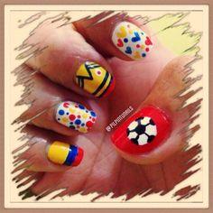 I'm Colombian! #nails #nailart #nailpolish #soproud
