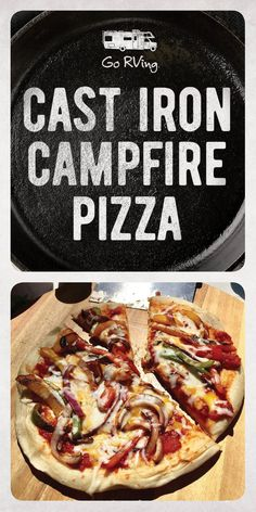 Iron Campfire Pizza Pizza night in the RV! And who needs delivery, when you can make one right at the campfire.Pizza night in the RV! And who needs delivery, when you can make one right at the campfire. Iron Skillet Recipes, Cast Iron Recipes, Skillet Meals, Dutch Oven Cooking, Cast Iron Cooking, Fire Cooking, Camping Hacks With Kids, Campfire Pizza, Campfire Recipes
