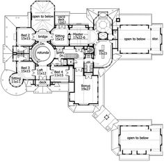 Shingle style luxury home plans