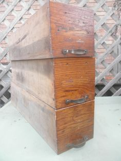 Rustic Hardware Store Drawers Set of 3 by YettiTreasures on Etsy, $45.00