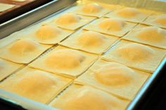 Butternut Squash Ravioli Serves 8-12 1 pound butternut squash, cooked 1 pound ricotta cheese, whole or part skim 1/2 cup Parmigiano Reggiano cheese, grated 1/2 teaspoon salt 1/2 teaspoon pepper 1/2 teaspoon nutmeg 96 egg roll wrappers (2 packages of small square wonton skins) In a medium bowl mash the cooked squash and combine with …