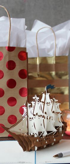 lovepop's nautical pop up card. Paper art?  Greeting card? Unexpected. Every time.   http://lovepopcards.com/collections/thank-you/?orderby=popularity&utm_source=Pinterest&utm_medium=4.11P