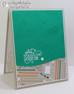 I used the new Crafting Forever stamp set from the upcoming Stampin' Up! 2017-18 Annual Catalog to create a clean and simple card to share with you today.
