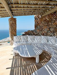 Villa patio in Mykonos, Greece