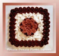Razzle Dazzle Floral Square