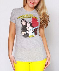 Look at this #zulilyfind! Heather Gray 'Love in Alderaan Places' Star Wars Tee - Women #zulilyfinds