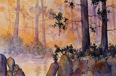 Juneau Mists. Watercolor, 15 x 22