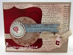 This Vintage card was made with the Collage Curios Stamp Set by Stampin' Up!  http://catherinepooler.com/2013/02/collage-curios-stampin-up/