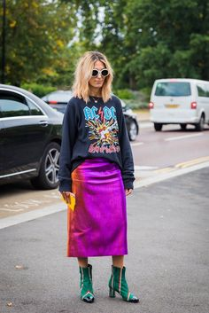 Great skirt! The SS18 London Fashion Week Street Style Scene Was Better Than NYFW — FashionFiles #richfashion #unique #style #streetstyle
