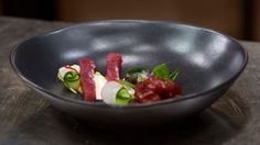 Tuna, Avocado Mousse, Horseradish Cream and Pickled Salad