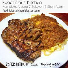 7 Spices Lamb Chop combo Spaghetti Bolognese RM20.90  #7spices #lambchop #combo #spaghetti #bolognese #foodiliciouskitchen #makansedap #affordable #halal #westernfood #shahalam #recommended on #hungrygowhere #tripadvisor #jjcm #nstp #kosmo