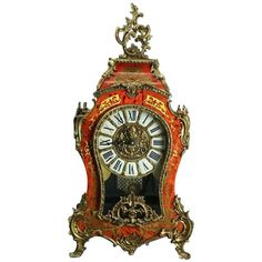 Vintage French Louis XIV Style Franz Hermle Boulle