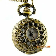 Classic Vintage Bronze Openwork Cover Quartz Pocket Watch Chain Necklace by new brand. $4.99. ItemnoNBW0PD7108 GenderUnisex MovementQuartz Movement Case Size27*36mm Case Thickness12mm BezelBronze alloy bezel  DialWhite dial with Arabic numerals hour marking Case BackBronze alloy case back with flower pattern Weight23g Water resistantDaily water resistant, please don't put it in water Length44(Chain length: elongation 78cm, fold 39cm) cm