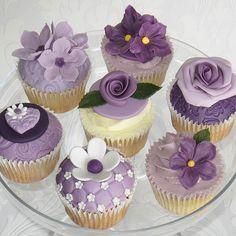 Purple cupcakes.