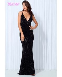 If you're looking for sequins and sparkle then you've found the right place! This black sequin maxi dress is the perfect occasion dress for the party season. This sparkly fishtail evening dress is an absolute stunner. Sequin Evening Dresses, Mermaid Evening Dresses, Party Gown Dress, Party Gowns, Elegant Dresses, Sexy Dresses, Sleeveless Dresses, Prom Dresses, Backless Sequin Dress
