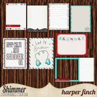Shimmer, Journal Cards by harperfinch