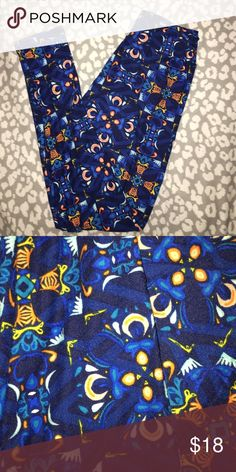 Tween LuLaRoe leggings Worn once. Tween size. LuLaRoe Other
