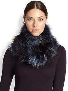 Adrienne Landau - Fox Fur Cowl