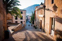 A street view in Puerto Pollensa, Majorca (Mallorca)