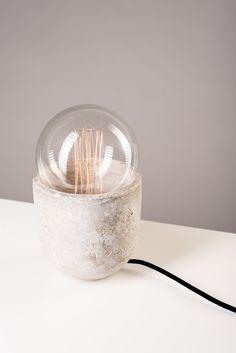 Lampe en béton design, vintage, fait main