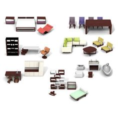 of course you'll have to get the modern furniture to go with it!  Maison Collection now featured on Fab.