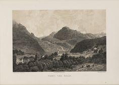 Norge fremstillet i Tegninger - Anders Askevold - Parti ved Dale i Söndfjord. jpg (6080×4360)