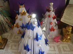 Arvores de Natal Paz com tsurus