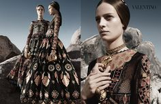 Fashion photographer Craig McDean captures Valentino 's Spring Summer 2014 campaign featuring models Auguste Abeliunaite, Esther Heesch, Ine Neefs, Maartje Verhoef, Malaika Firth. Styling is courtesy of Karl Templer, while Riccardo Ruini was in charge of art direction.