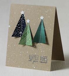 I love a simple Christmas card especially when I made 54 this year!