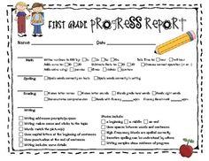 Need a cute progress report for first grade parent-teacher conferences