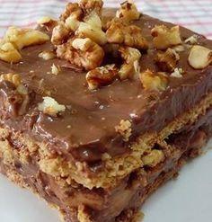 Ελληνικές συνταγές για νόστιμο, υγιεινό και οικονομικό φαγητό. Δοκιμάστε τες όλες Greek Sweets, Greek Desserts, Party Desserts, Summer Desserts, Pureed Food Recipes, Sweets Recipes, Cake Recipes, Icebox Cake, Sweets Cake