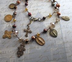 Religious Jewelry  Vintage Catholic Saint Medals by LoreleiDesigns