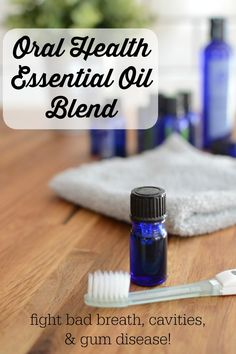 Oral Health Essential Oil Blend {fight bad breath, cavities, & gum disease!} | Tooth pain, caries, cavities, receeding gums, sensitivity, and periodontal disease are caused by infection in the mouth. Kill that infection with natural, holistic, antibacterial essential oils! Just 1 drop of this blend on your toothbrush every time you brush! | TodayInDietzville.com