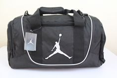 79289d32fb8c Nike jordan jump man gym small duffle bag black x x luggage new
