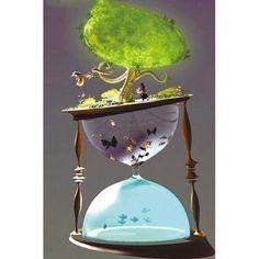 Hourglass Sand Timer, Purple Bird, Sand Timers, Clock Art, Matrix, 5d Diamond Painting, Environmental Art, Dark Art, Vector Art