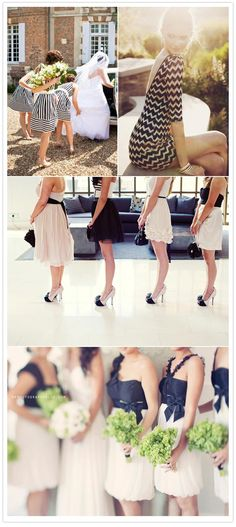 black and white bridesmaid dress ideas