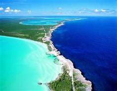 Where the Caribbean meets the Atlantic in Eleuthera, Bahamas. An amazing contrast