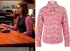 The Big Bang Theory: Season 8 Episode 20 Amy's Floral Button Down Shirt