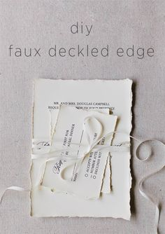 DIY Faux Deckled Edge Paper via OnceWed.com