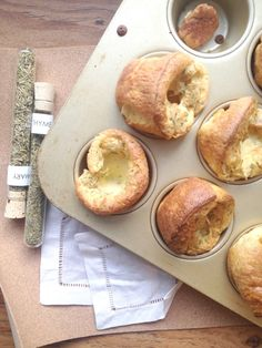 Rosemary & Thyme Popovers - Cooking with Books