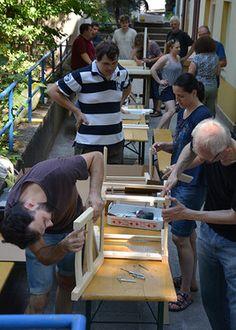 Wiesbaden bereitet sich auf 1500 Fluechtlinge vor - der Innenausbau geht im künftigen Heim geht zügig voran.