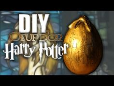 More Geeky Easter projects! I've made a smaller version of the Golden Egg from Harry Potter and the Goblet of Fire (remember the one he got from the Norwegia. Harry Potter Dragon, Harry Potter Film, Deco Harry Potter, Goblet Of Fire Book, Harry Potter Bricolage, Anniversaire Harry Potter, Trunk Or Treat, Dragon Egg, Party Entertainment