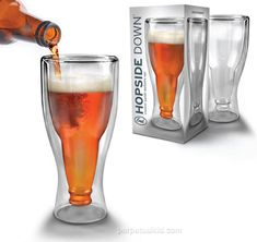 Hopside Down Beer Glass ($22) | 20 Fun Gifts For Beer Lovers