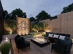 Backyard Seating, Backyard Patio Designs, Small Backyard Landscaping, Modern Backyard Design, Backyard Decorations, Modern Landscaping, Modern Design, Landscaping Ideas, Modern Garden Design