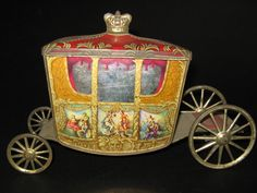 Jacobs Biscuit tin - Coronation Coach Cinderella Carriage, Tin Art, Tea Tins, Canister Sets, Vintage Tins, Tin Toys, Advertising Signs, Toy Boxes, Porcelain